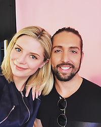 """Mischa Barton releases a photo on Instagram with the following caption: """"The best Friend/Hairstylist all around great guy anyone could ask for \ud83d\udc87\ud83c\udffc Thanks for making work fun \u0026 my hair look FLY \ud83d\udc96#modshairla #blondehair #friends @joshuastinnett \ud83d\udc8b\ud83d\udc8b\ud83d\udc8b"""". Photo Credit: Instagram *** No USA Distribution *** For Editorial Use Only *** Not to be Published in Books or Photo Books ***  Please note: Fees charged by the agency are for the agency's services only, and do not, nor are they intended to, convey to the user any ownership of Copyright or License in the material. The agency does not claim any ownership including but not limited to Copyright or License in the attached material. By publishing this material you expressly agree to indemnify and to hold the agency and its directors, shareholders and employees harmless from any loss, claims, damages, demands, expenses (including legal fees), or any causes of action or allegation against the agency arising out of or connected in any way with publication of the material."""