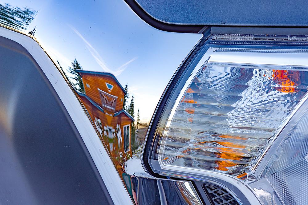 Toyota Tacoma refection, November, Olympic Peninsula, Clallam County, USA