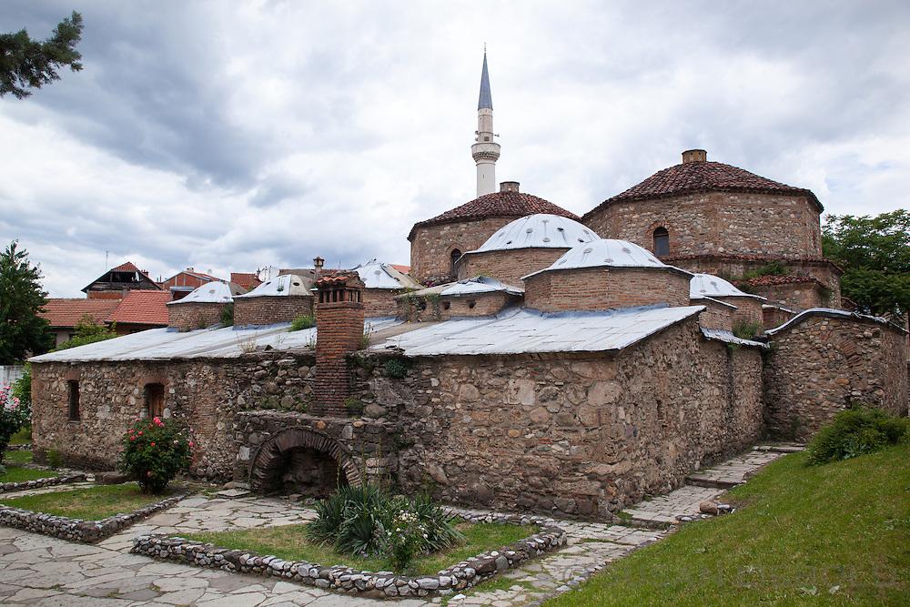Exterior view of the Gazi Mehmet Pasha Hammam (Old Turkish bathhouse) in Prizren, Kosovo.