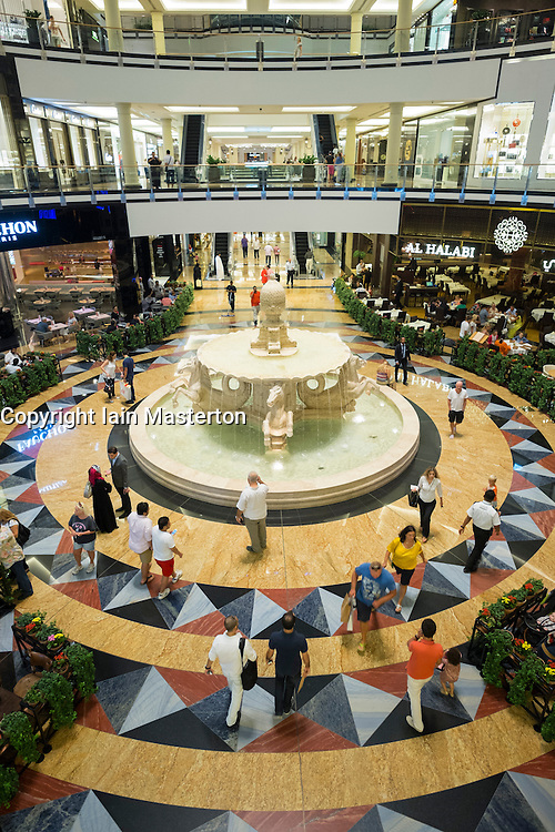 Interior of Mall of the Emirates shopping centre in Dubai United Arab Emirates