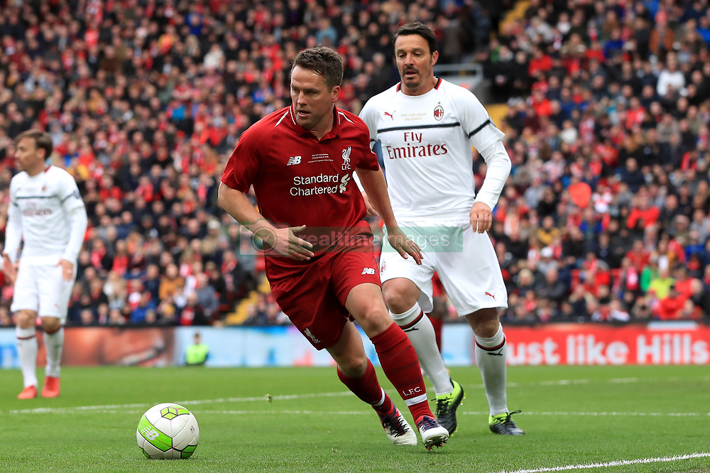 Liverpool's Michael Owen during the Legends match at Anfield Stadium, Liverpool.