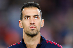 November 5, 2019, Barcelona, Catalonia, Spain: November 5, 2019 - Barcelona, Spain - Uefa Champions League Stage Group, FC Barcelona v Slavia Praga: Sergio Busquets of FC Barcelona before start the game. (Credit Image: © Eric Alonso/ZUMA Wire)