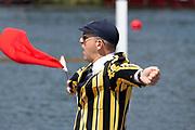 Henley on Thames, England, United Kingdom, 3rd July 2019, Henley Royal Regatta  Umpire John HRDGER, Henley Reach, [© Peter SPURRIER/Intersport Image]<br /> <br /> 12:04:45 1919 - 2019, Royal Henley Peace Regatta Centenary,