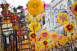 MACAO, Sept. 6, 2016 (Xinhua) -- A worker arranges light decorations ahead of the Mid-Autumn Festival at the Largo Do Senado in Macao, south China, Sept. 6, 2016. (Xinhua/Cheong Kam Ka) (zwx) (Credit Image: © Cheong Kam Ka/Xinhua via ZUMA Wire)