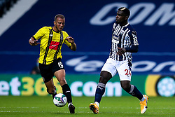 Cedric Kipre of West Bromwich Albion takes on Aaron Martin of Harrogate Town - Mandatory by-line: Robbie Stephenson/JMP - 16/09/2020 - FOOTBALL - The Hawthorns - West Bromwich, England - West Bromwich Albion v Harrogate Town - Carabao Cup