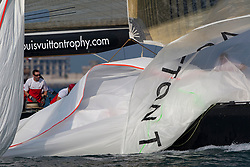 Artemis Racing (SWE) lost two matches in RR2. one against Synergy Russian Sailing Team(RUS) and one against BMW Oracle Racing (USA). Dubai, United Arab Emirates, November 21st 2010. Louis Vuitton Trophy  Dubai (12 - 27 November 2010) © Sander van der Borch / Artemis Racing