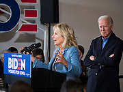23 NOVEMBER 2019 - DES MOINES, IOWA: Dr. JILL BIDEN talks about her husband, former Vice President Joe Biden during a campaign event in Des Moines Saturday. Vice President Biden announced that Tom Vilsack, the former Democratic governor of Iowa, endorsed him. Biden and Vilsack appeared with their wives at an event in Des Moines. Iowa hosts the first presidential selection event of the 2020 election cycle. The Iowa caucuses are on February 3, 2020.                PHOTO BY JACK KURTZ
