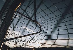 THEMENBILD - Detailansicht von einem Fussballtor eines gesperrten Fussballplatzes bei Sonnenuntergang im Gegenlicht, aufgenommen am 15. April 2020 in Kaprun, Oesterreich // detail of a football goal of a closed football ground at sunset against the light in Kaprun, Austria on 2020/04/15. EXPA Pictures © 2020, PhotoCredit: EXPA/ JFK