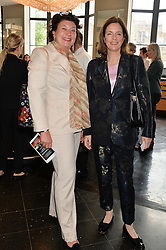 Left to right, ISOBEL, COUNTESS OF STRATHMORE and MINNIE CECIL at a ladies lunch in aid of the charity Maggie's held at Le Cafe Anglais, 8 Porchester Gardens, London on 29th April 2014.