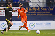 Luton Town player looks to shoot at goal in the first half during the EFL Sky Bet League 1 match between Luton Town and AFC Wimbledon at Kenilworth Road, Luton, England on 23 April 2019.