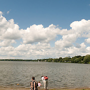 Lake Quannapowitt is the main attraction of Wakefield, Massachusetts, a quiet suburb of Boston, Massachusetts