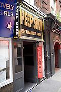 Peep show entrance, Soho, London, England