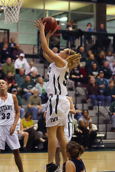 10 January 2009: Stacey Arlis takes an open jump shot. The Lady Titans of Illinois Wesleyan University downed the and Lady Thunder of Wheaton College by a score of 101 - 57 in the Shirk Center on the Illinois Wesleyan Campus in Bloomington Illinois.