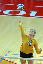 23 November 2017: Jaclyn Bulmahn  during a college women's volleyball match between the Valparaiso Crusaders and the Illinois State Redbirds in the Missouri Valley Conference Tournament at Redbird Arena in Normal IL (Photo by Alan Look)