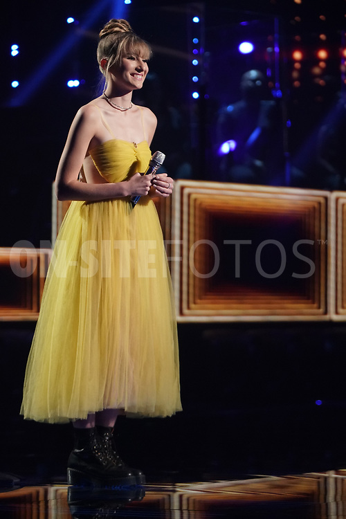 """AMERICAN IDOL – """"414 (Oscar Nominated Songs)"""" – The top 12 contestants perform Oscar®-nominated songs in hopes of securing America's vote into the top nine on an all-new episode of """"American Idol,"""" airing live coast-to-coast on SUNDAY, APRIL 18 (8:00-10:00 p.m. EDT), on ABC. (ABC/Eric McCandless)<br /> AVA AUGUST"""