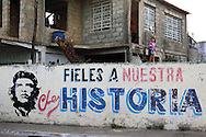 Girl and Che in Pinar del Rio, Cuba.