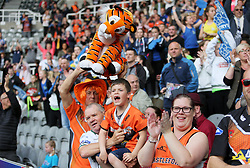 Castleford Tigers show their support in the stands