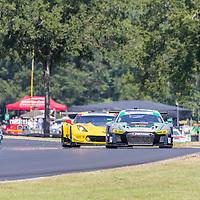 Alton, VA - Aug 26, 2016:  The Magnus Racing Audi R8 LMS GT3 races through the turns at the Michelin GT Challenge at VIR at Virginia International Raceway in Alton, VA.