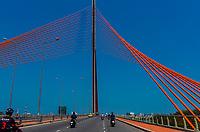 Tran Thi Ly Bridge across the Han River,  Danang, Vietnam.
