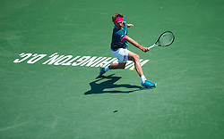 August 5, 2018 - Washington D.C, DC, U.S. - WASHINGTON D.C., DC - AUGUST 05: ALEXANDER ZVEREV (GER) during day seven match of the 2018 Citi Open on August 05, 2018 at Rock Creek Park Tennis Center in Washington D.C. (Photo by Chaz Niell/Icon Sportswire) (Credit Image: © Chaz Niell/Icon SMI via ZUMA Press)