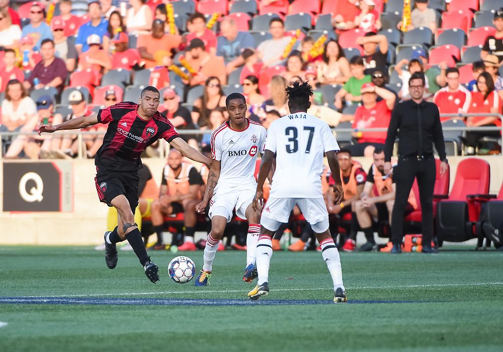 OTTAWA, ON - MAY 30: USL match between the Ottawa Fury FC and Toronto FC II at TD Place Stadium in Ottawa, ON. Canada on May 30, 2018.<br /> <br /> PHOTO: Steve Kingsman/Freestyle Photography/Ottawa Fury FC