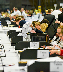 Counting get's underway at the general election count in Motherwell.<br /> <br /> © Dave Johnston / EEm