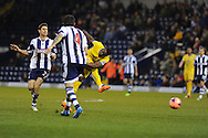 Yannick Bolasie of Crystal Palace has a shot at goal.FA Cup with Budweiser, 3rd round, West Bromwich Albion v Crystal Palace match at the Hawthorns in Birmingham, England on Saturday 4th Jan 2014.<br /> pic by Andrew Orchard, Andrew Orchard sports photography.