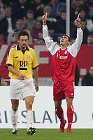 Fotball<br /> Tyskland 2004/05<br /> Fortuna Düsseldorf v FC Bayern München<br /> 18. januar 2005<br /> Foto: Digitalsport<br /> NORWAY ONLY<br /> Jubel 1:2 LUCIO Bayern, links Marcel PODZUS