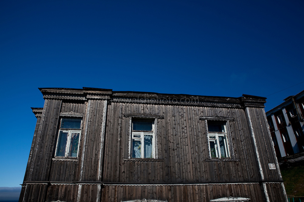 The house where Russian ballet dancer Maya Plisetskaya lived as a child, Barentsburg, a Russian coal mining town in the Norwegian Archipelego of Svalbard. Once home to about 2000 miners and their families, less than 500 people now live here.