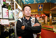 Hideo Watanabe, 64, who has prevented hundreds of people from committing suicide over the past three and a half decades, stands in his store at an entrance to Aokigahara Jukai, better known as the Mt. Fuji suicide forest, in Yamanashi Prefecture, west of Tokyo, Japan on 04 Nov. 2009. ..