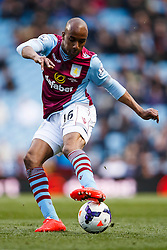 Aston Villa Midfielder Fabian Delph (ENG) in action - Photo mandatory by-line: Rogan Thomson/JMP - 07966 386802 - 23/03/2014 - SPORT - FOOTBALL - Villa Park, Birmingham - Aston Villa v Stoke City - Barclays Premier League.