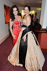 Left to right, NANCY DELL'OLIO and OLGA BALAKLEETS at the 10th anniversary Gala of the Russian Ballet Icons at the London Coliseum, St.Martin's Lane, London on 8th March 2015.