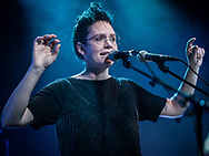 Icelandic singer-songwriter Sóley together with Sin Fang and Örvar Smárason at Gebäude 9 in Cologne