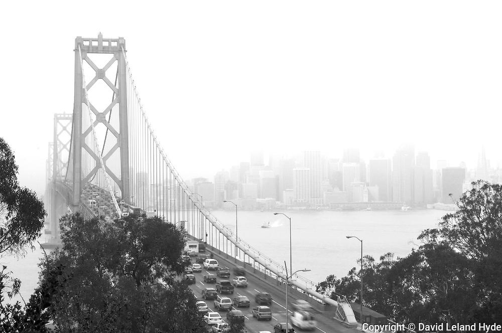 Rush Hour, Bay Bridge, San Francisco, California Cities, Northern California, Interstate 80, jet boat, ocean mist