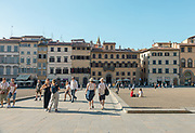 FLORENCE: view of Piazza dei pitti