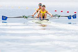 August 3, 2018 - Glasgow, UNITED KINGDOM - 180803 Filip Nilsson (bow) and Mattias Johansson (stroke) of Sweden compete in the Lightweight Men's Rowing Double Sculls repechage during the European Championships on August 3, 2018 in Glasgow..Photo: Jon Olav Nesvold / BILDBYRÃ…N / kod JE / 160281 (Credit Image: © Jon Olav Nesvold/Bildbyran via ZUMA Press)