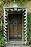 Elegant period doorway in Chipping Campden, The Cotswolds, Gloucestershire
