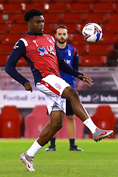 Loic Mbe Soh of Nottingham Forest warms up - Mandatory by-line: Ryan Crockett/JMP - 20/10/2020 - FOOTBALL - The City Ground - Nottingham, England - Nottingham Forest v Rotherham United - Sky Bet Championship