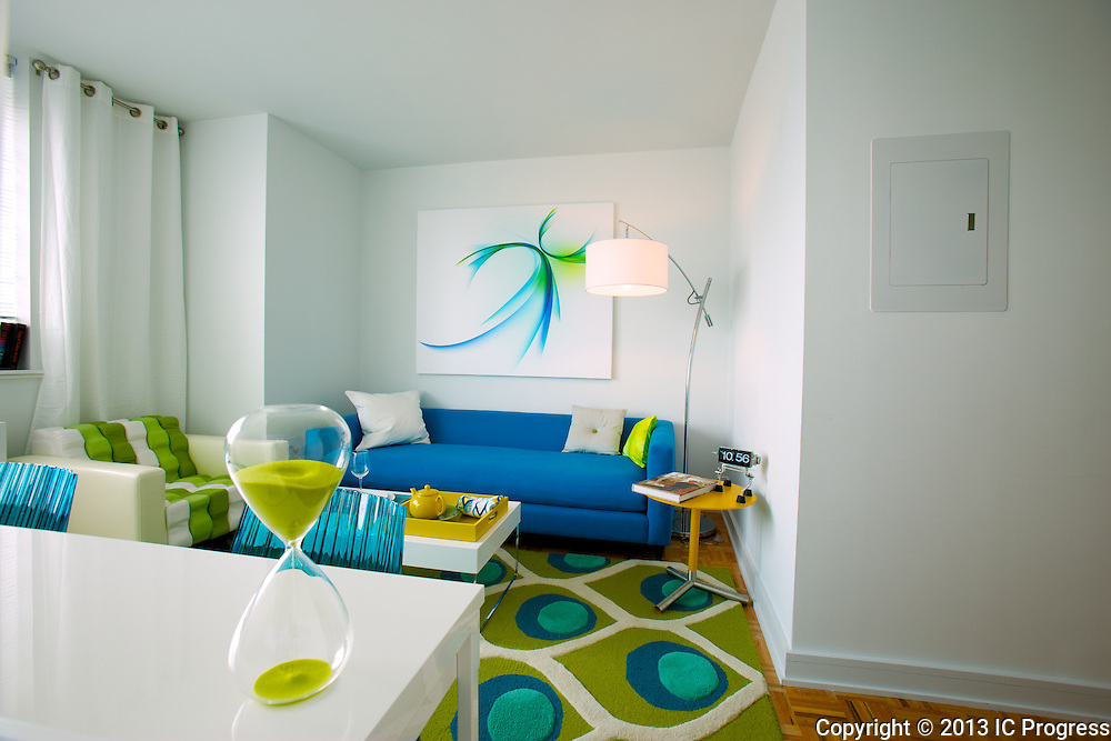 Model Apartments at Linc, in Long Island City, NY.