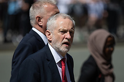 © Licensed to London News Pictures . 22/05/2018 . Manchester , UK . JEREMY CORBYN arrives at Manchester Cathedral for a Service of Remembrance on the first anniversary of the Manchester Arena bombing . On the evening of 22nd May 2017 , Salman Abedi murdered 22 people and seriously injured dozens more , when he exploded a bomb in the  foyer of the Manchester Arena as concert-goers were leaving an Ariana Grande gig . Photo credit : Joel Goodman/LNP
