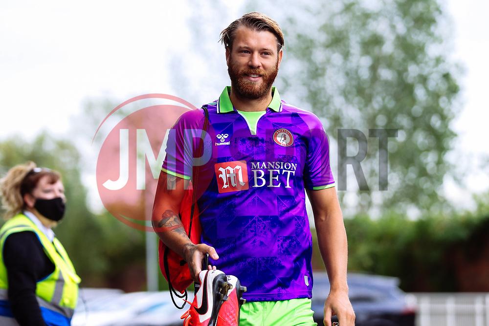 Nathan Baker of Bristol City arrives - Rogan/JMP - 21/08/2020 - Ashton Gate Stadium - Bristol, England - Bristol City v Cheltenham Town - Pre Season Friendly.