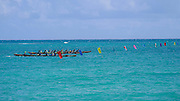 Outrigger canoe race, Kailua Beach, Oahu, Hawaii