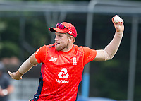 EDINBURGH, SCOTLAND - JUNE 10: David Willey fields during the first innings of the one-off ODI at the Grange Cricket Club on June 10, 2018 in Edinburgh, Scotland. (Photo by MB Media/Getty Images)