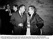 Andrew Neil and Harry Evans. New Yorker party for Joan Juliet Buck. N.Y. 1994. Film 94194f17<br />© Copyright Photograph by Dafydd Jones<br />66 Stockwell Park Rd. London SW9 0DA<br />Tel 0171 733 0108