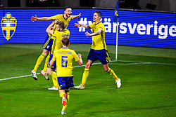 November 20, 2018 - Stockholm, SWEDEN - 181120 Marcus Berg of Sweden celebrates the 2-0 goal during the Nations League football match between Sweden and Russia on November 20, 2018 in Stockholm  (Credit Image: © Simon HastegRd/Bildbyran via ZUMA Press)