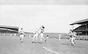 Derry and Kerry jump for the ball during the All Ireland Minor Gaelic Football Final Kerry v. Derry in Croke Park on the 26th September 1965.