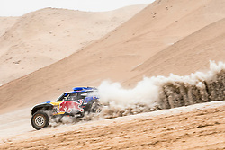 Carlos Sainz (ESP) of X-raid MINI JCW Team races during stage 04 of Rally Dakar 2019 from Arequipa to o Tacna, Peru on January 10, 2019 // Marcelo Maragni/Red Bull Content Pool // AP-1Y39E7RVW1W11 // Usage for editorial use only // Please go to www.redbullcontentpool.com for further information. //