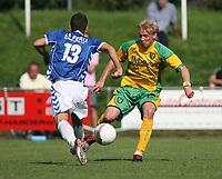 Photo: Maarten Straetemans.<br /> AGOVV Apeldoorn v Norwich City. Pre Season Friendly. 21/07/2007.<br /> Robert Eagle (right)
