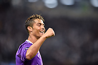 Cristiano Ronaldo of Real Madrid celebrates scoring during the UEFA Champions League Final match between Real Madrid and Juventus at the National Stadium of Wales, Cardiff, Wales on 3 June 2017. Photo by Giuseppe Maffia.<br /> Giuseppe Maffia/UK Sports Pics Ltd/Alterphotos