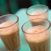 Glasses of Indian chai